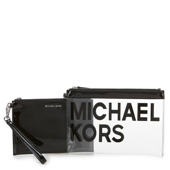 740c8ab2873c Michael Kors Bags | Nwt Clear Large Travel Pouch Duo Bag | Poshmark